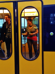 U Bahn Train Green Door Open Button