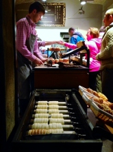 Trdelnik - Slovak/Czech Sweet Pastry rolled over a grill fire
