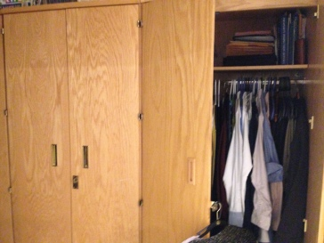 "our ""Issued"" closets :)"