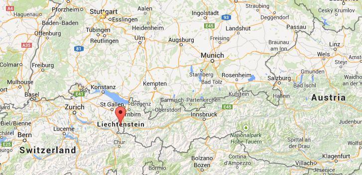 A Weekend Trip to Vaduz Lichtenstein Travels Through Europe – Lichtenstein Germany Map